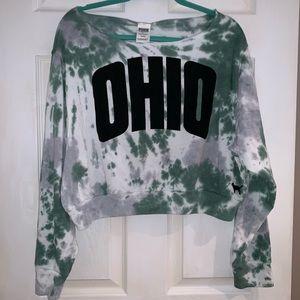 PINK Ohio University Cropped Sweatshirt - NWT